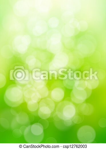 abstract green nature background - csp12762003