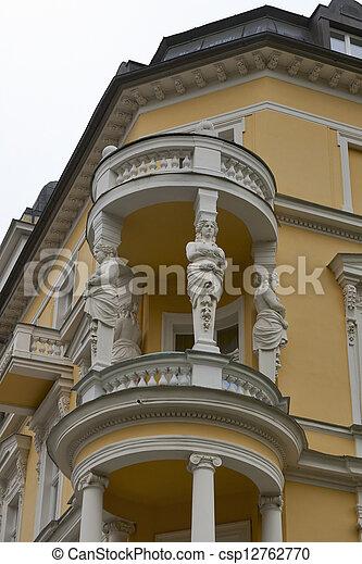 Old residential building in Frantiskovy Lazne in Czech Republic - csp12762770