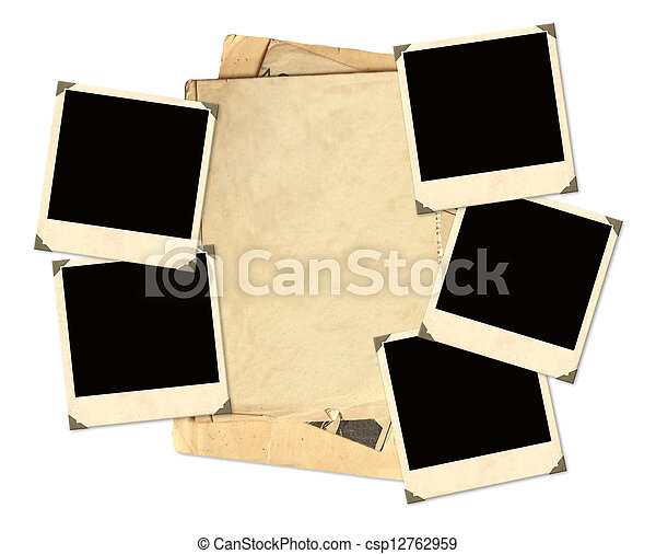 Old photos for scrapbooking - csp12762959