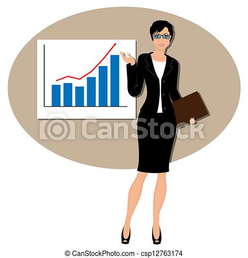Beautiful business woman - csp12763174