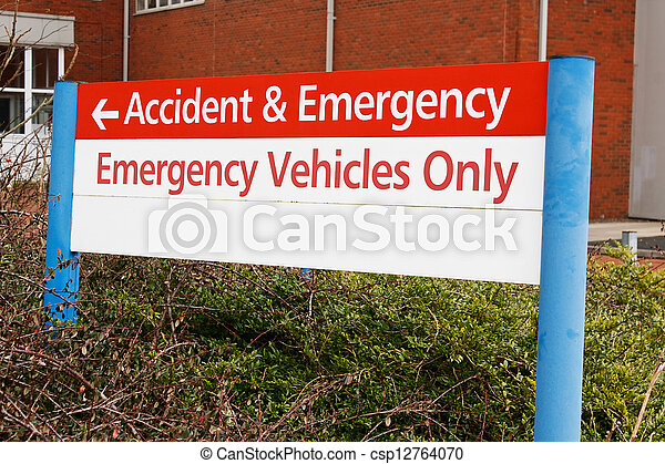 accident and emergency sign - csp12764070