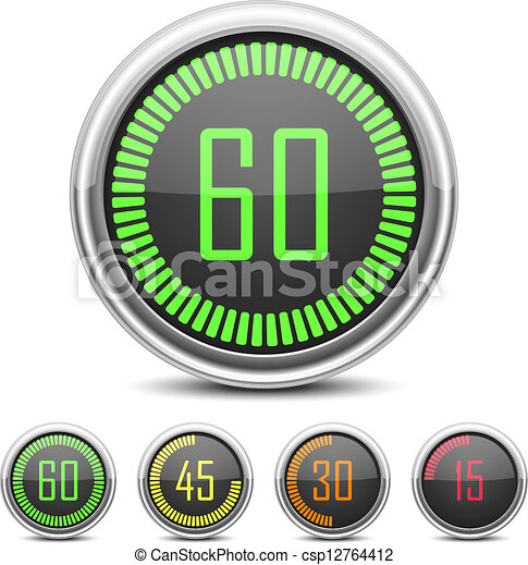 Vector Clip Art of Digital Countdown Timer - Vector Digital Countdown ...