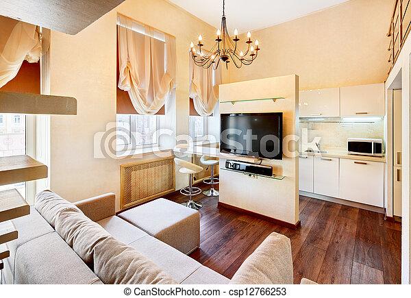 Stock bilder von pastell stil fernsehapparat modern for Inneneinrichtung wohnzimmer modern