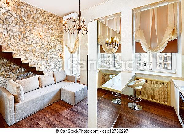 stock fotografien von modern stil wohnzimmer inneneinrichtung mit csp12766297 suchen. Black Bedroom Furniture Sets. Home Design Ideas