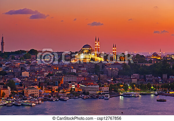 Istanbul sunset - csp12767856