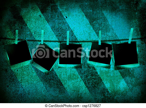 stripped polaroid - csp1276827
