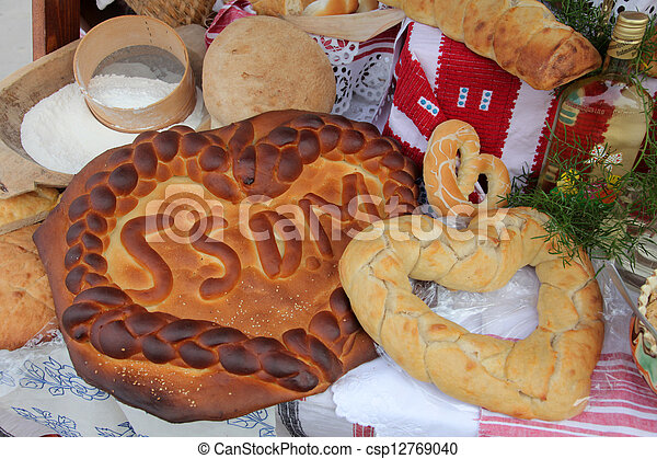 Stock photo of delicious homemade christmas bread csp12769040 search stock images photographs - Make delicious sweet bread christmas ...