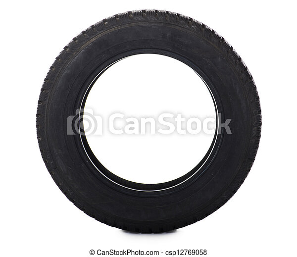 Automobile tire isolated on white background - csp12769058