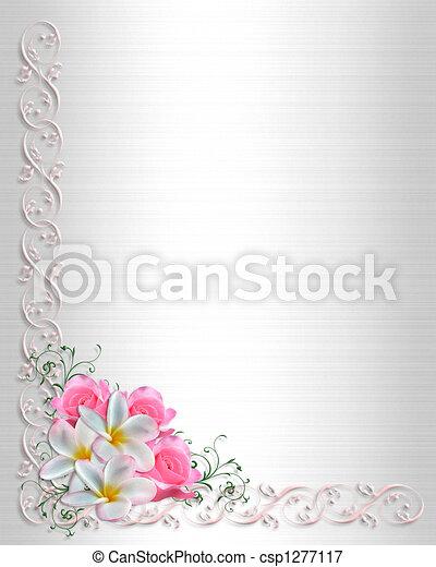 Wedding Invitation plumeria - csp1277117