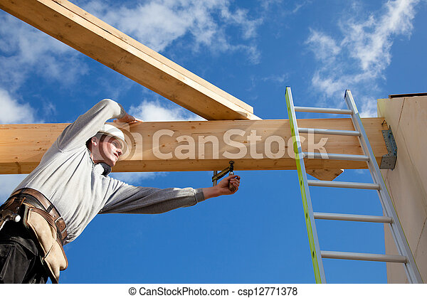 authentic construction worker - csp12771378