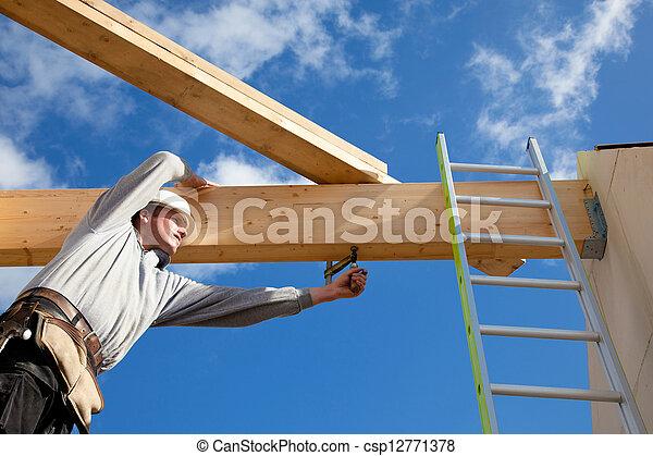 authentic construction worker - csp12771378