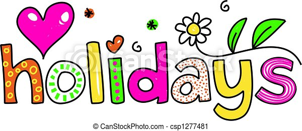 Clipart Of Holidays Decorative Whimsical Holiday Text