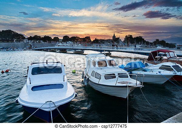 Zadar sunset - csp12777475