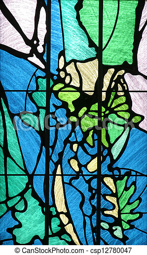 Stained glass church window - csp12780047