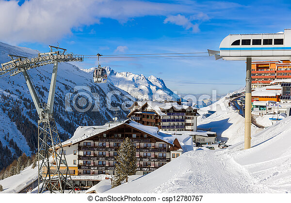 Mountain ski resort Hochgurgl Austria - csp12780767