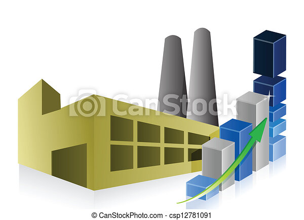 power plant and industrial building... csp12781091 - Search Clip Art ...