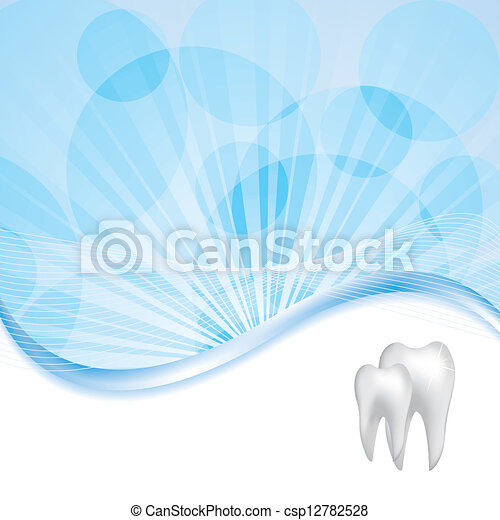 Abstract vector dental illustration - csp12782528
