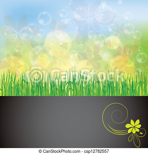 Abstract spring summer background - csp12782557