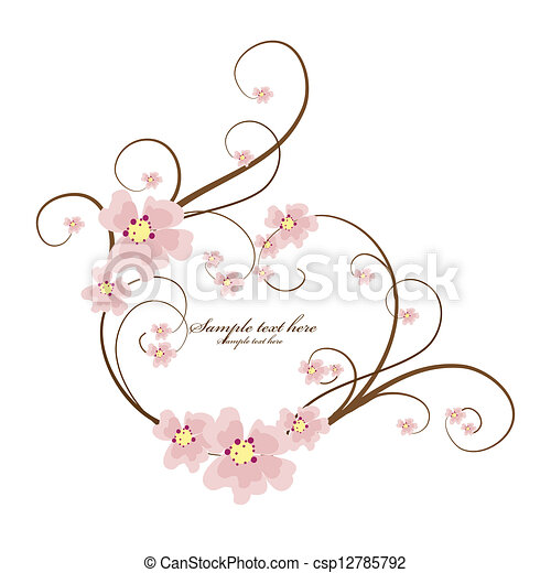 Ornamental frame heart with place for your text - csp12785792