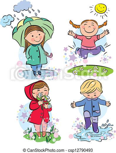 spring children csp12790493 - Spring Pictures For Children