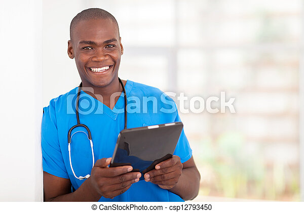 african american health care worker - csp12793450