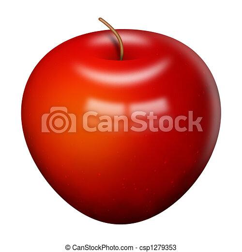 Shiny Red Apple - csp1279353