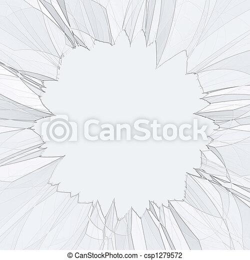 Shattered Broken Glass - csp1279572