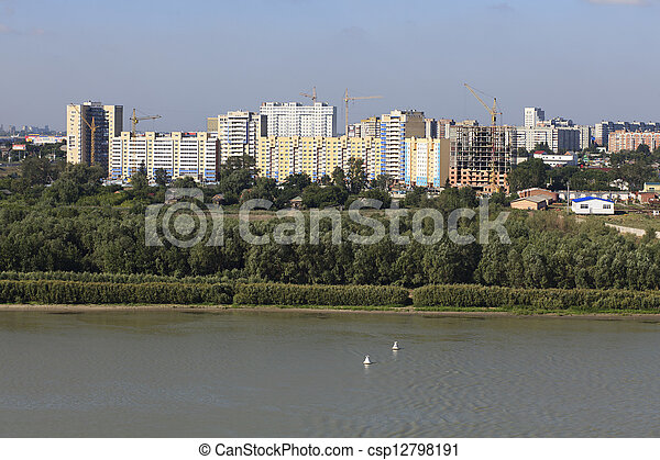 "Development area ""AVANGRAD"" - a modern residential complex in Omsk. Russia. - csp12798191"
