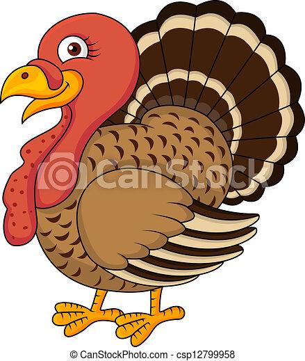 Clipart Vector of Turkey cartoon - Vector illustration of turkey ...