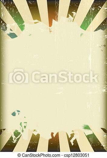 Grunge sunbeam color flag - csp12803051