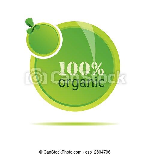 organic green nature vector illustration - csp12804796