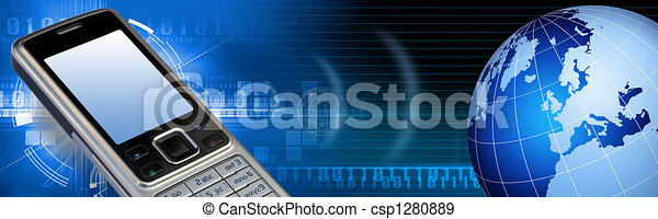 Communication tech banner - csp1280889