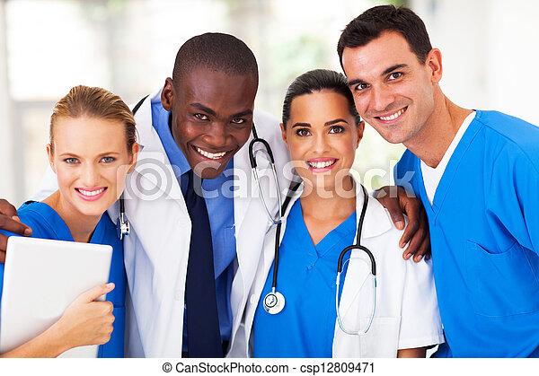 profissional, médico, Grupo, equipe - csp12809471