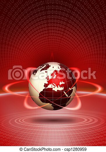 World globe technological action - csp1280959
