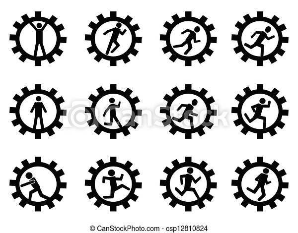 gear man symbol - csp12810824
