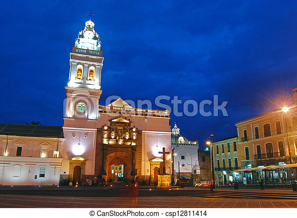 Old church in downtown Quito - csp12811414