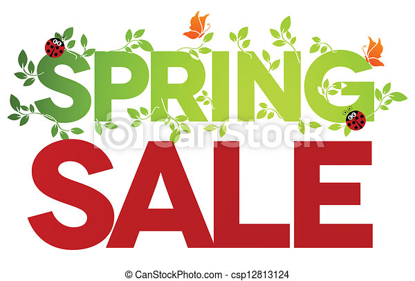 Spring sale isolated - csp12813124