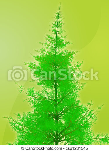 Pine tree illustration - csp1281545