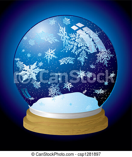 snow globe flake - csp1281897