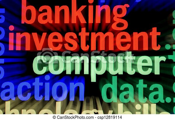 Banking investment computer - csp12819114
