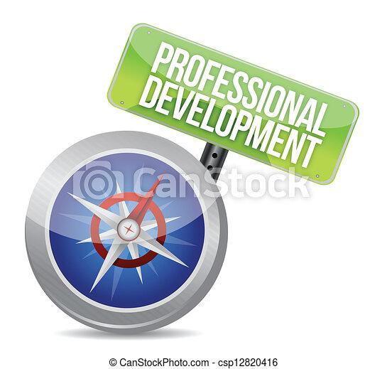 professional development Glossy Compass illustration design over a ...