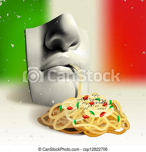 Italian food - concept - csp12822706