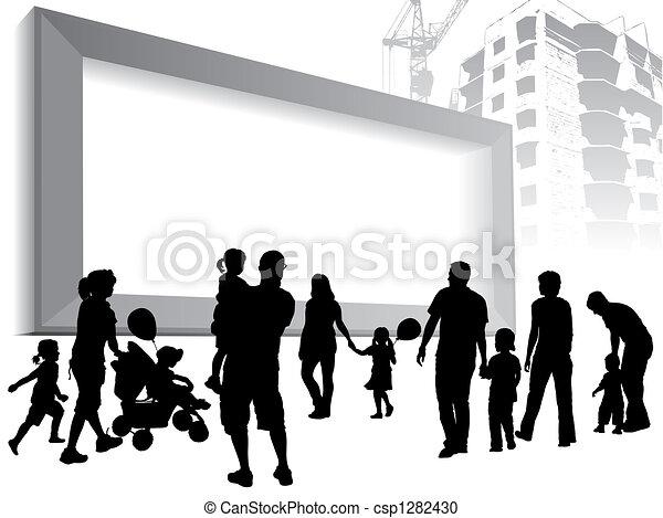 A large billboard - csp1282430