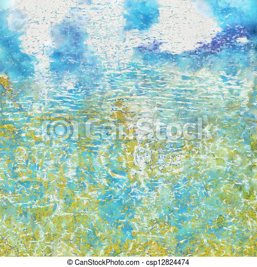 Highly detailed grunge background or paper with vintage texture - csp12824474