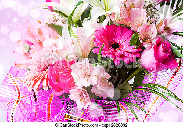 Beautiful background with flowers - csp12828832
