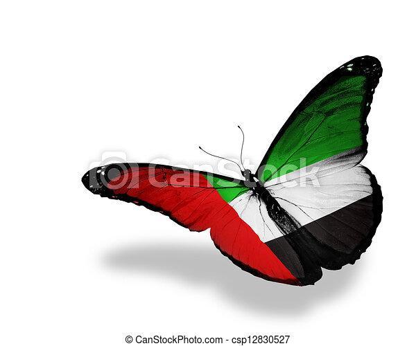 Uae Flag And Emblem Uae Flag Butterfly Flying