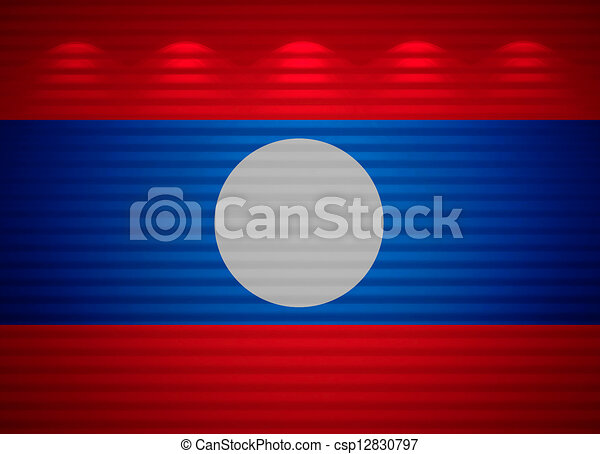 Laotian flag wall, abstract background - csp12830797