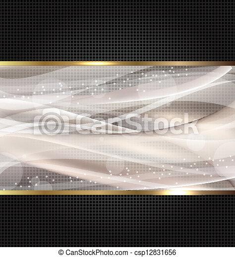 Abstract black wavy design template - csp12831656