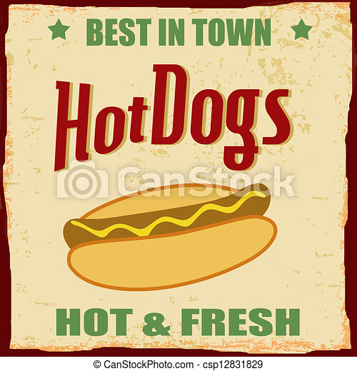 royalty free illustrations, stock clip art icon, stock clipart icons ...: www.canstockphoto.com/vintage-hot-dog-grunge-poster-12831829.html