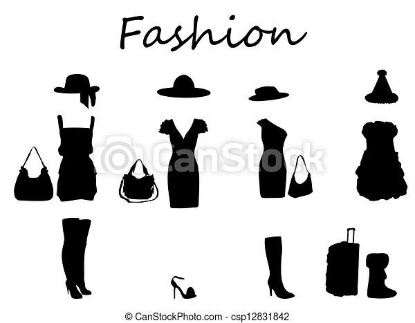 Fashion Black And White Clipart
